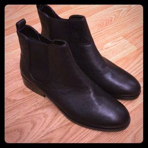 Cole Haah black ankle boots